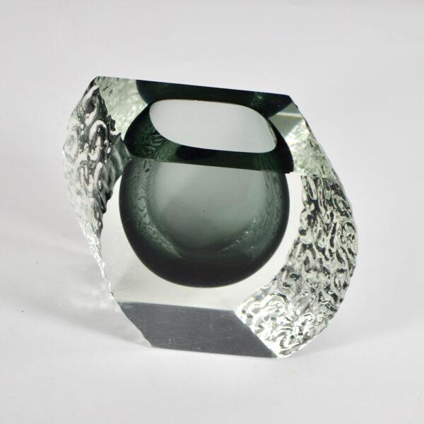 Large 1960s Mandruzzato sommerso vase mid century murano italian art glass (1)