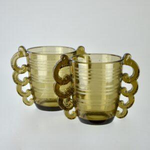 pierre d'avesn art deco vase pair divine style french antiques 2