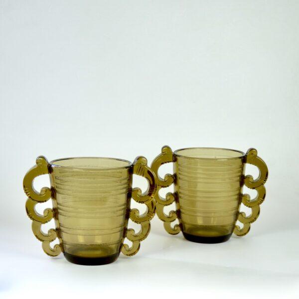pierre d'avesn art deco vase pair divine style french antiques 4
