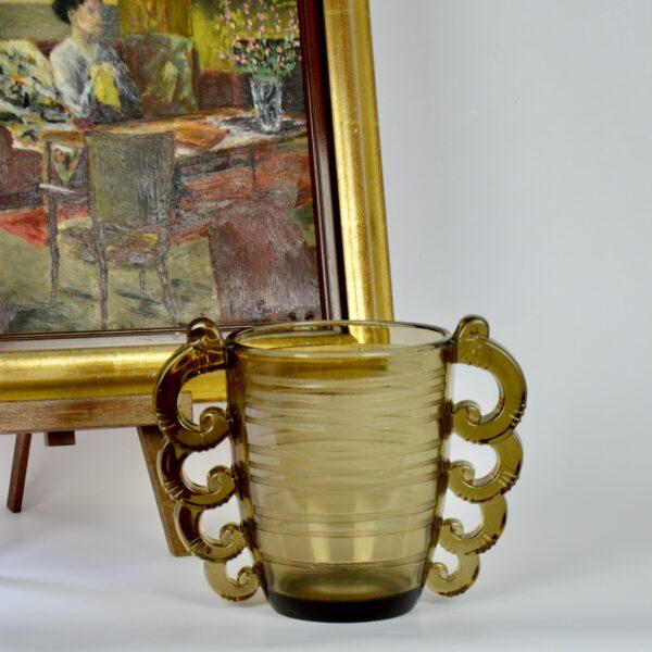 pierre d'avesn art deco vase pair divine style french antiques 6