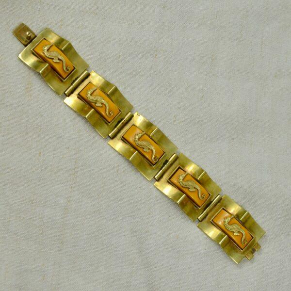 Jean Painlevé seahorse bracelet divine style french antiques 1