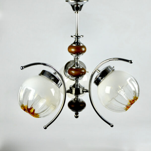 divine style mazzega murano 3 light fixture chandelier 6