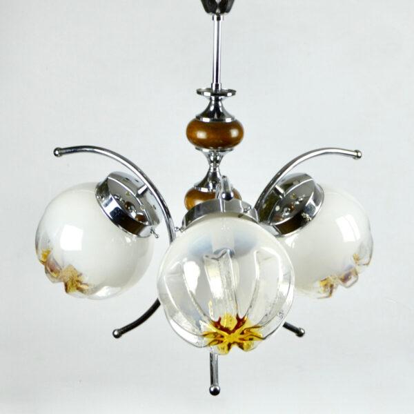 divine style mazzega murano 3 light fixture chandelier