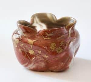 divine style french antiques legras agate glass bowl art nouveau .1