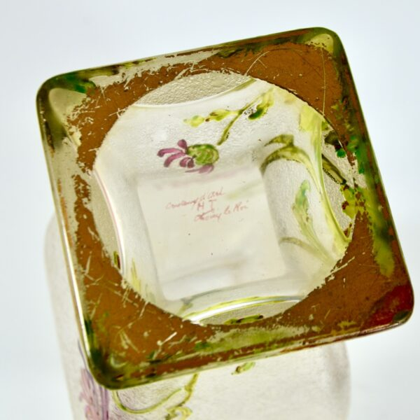 french antique vase choisy le roi art nouveau enamelled glass vase crystal 1900 2