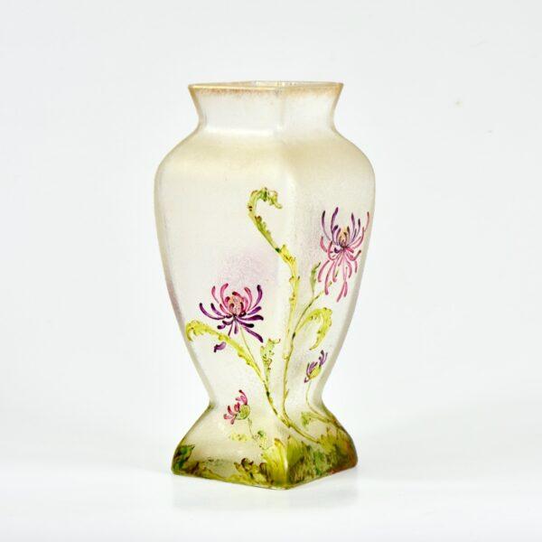french antique vase choisy le roi art nouveau enamelled glass vase crystal 1900 3
