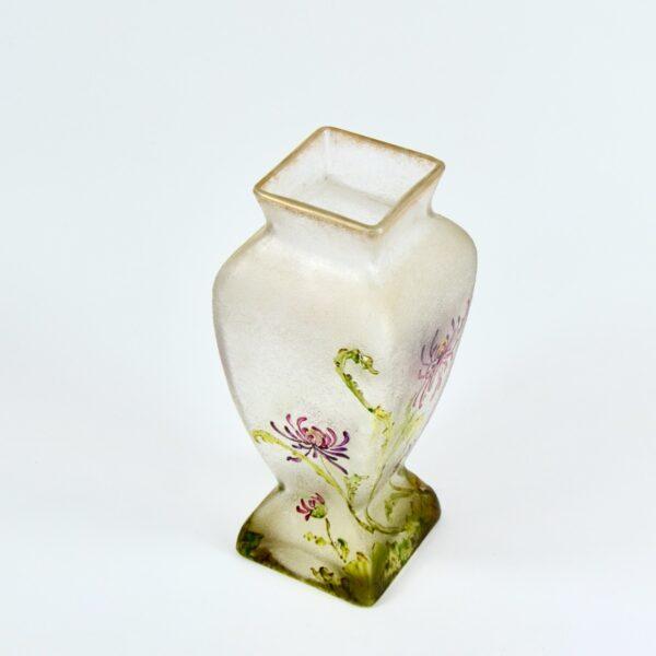 french antique vase choisy le roi art nouveau enamelled glass vase crystal 1900 4