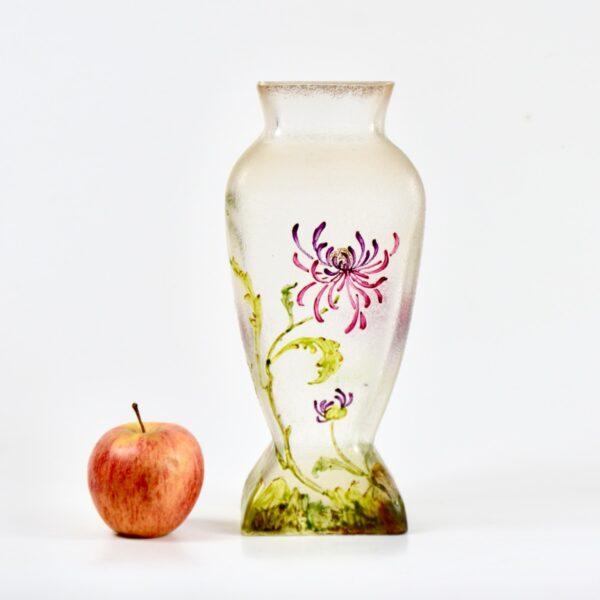 french antique vase choisy le roi art nouveau enamelled glass vase crystal 1900 5