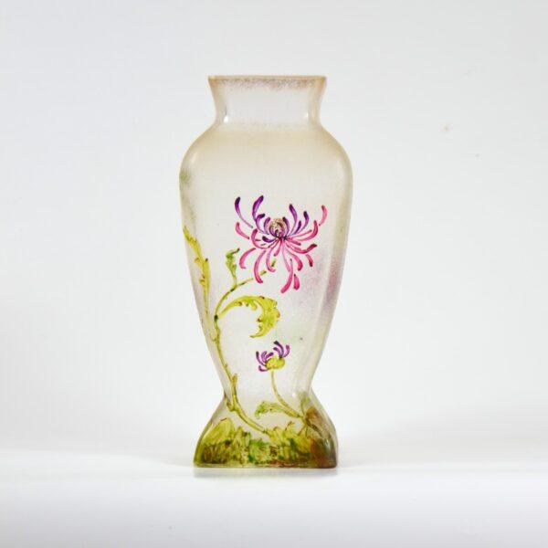 french antique vase choisy le roi art nouveau enamelled glass vase crystal 1900