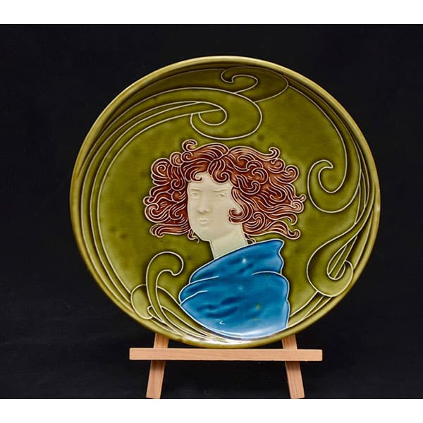Divine-style-french-antiques-Majolica-Arts-Crafts-Plate-04