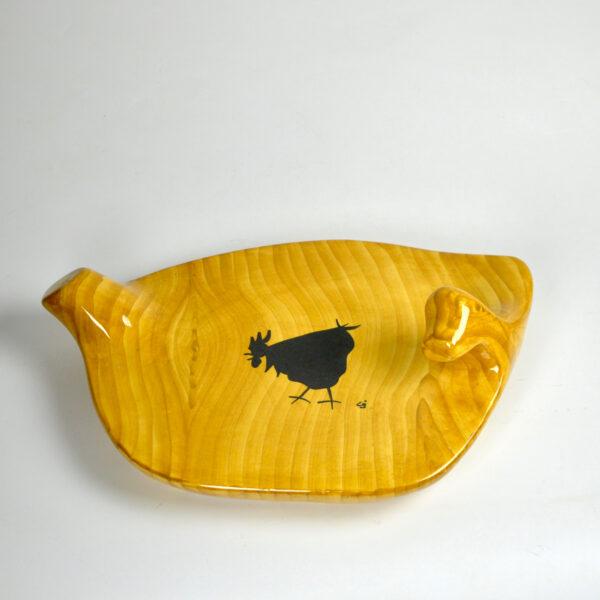 divine style Grandjean Jourdan Vallauris Faux-Wood Ceramic Platter 1