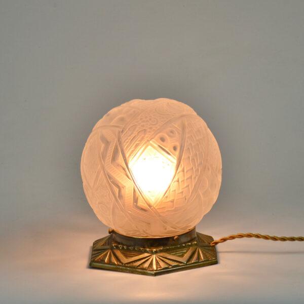 divine style muller freres art deco globe lamp nightlight