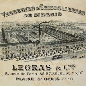 Legras glass French glass factory