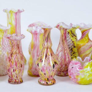 antique Legras glass vases 19th century french glass