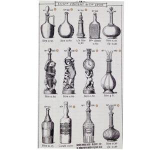 legras glass liqueur bottles antique pressed glass