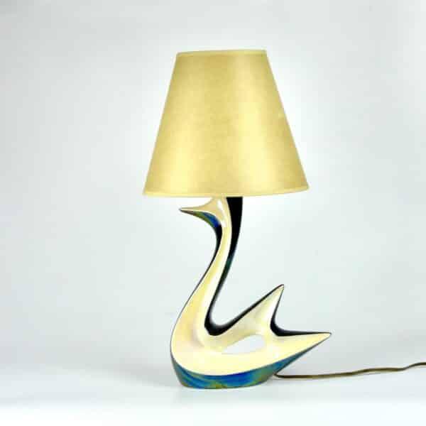divine style french antiques verceram swan lamp 5