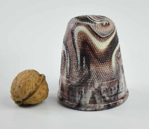 divine style french antiques slag glass thimble 1