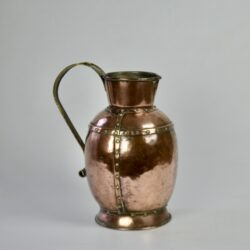 divine style french antiques Victorian riveted copper jug 1