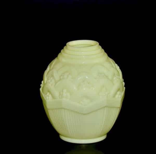 french antiques art deco yellow opal globe