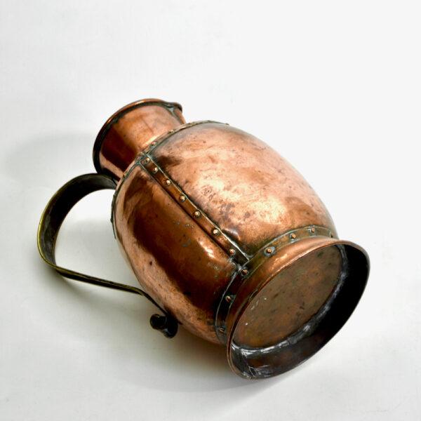 victorian copper jug, english c1850
