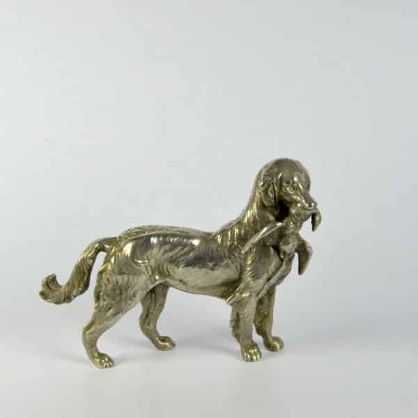 divine style french antiques bronze hunting dog statuette 2