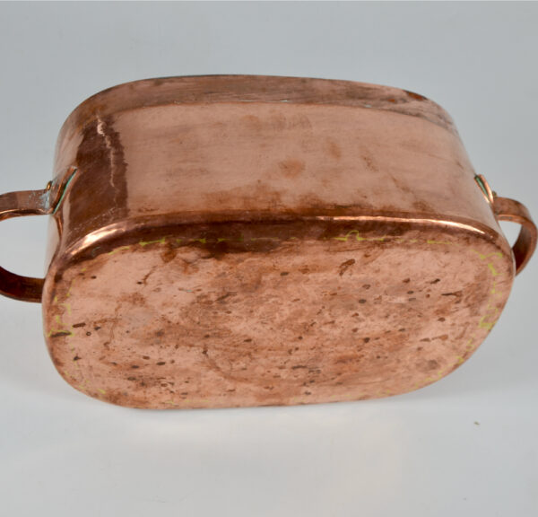Antique French copper braiser with dovetail seams (1)