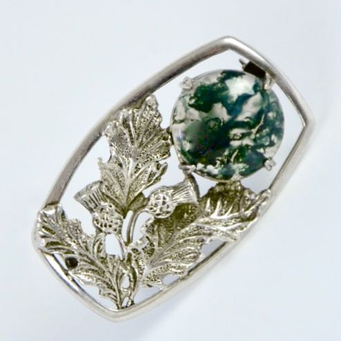 scottish silver thistle brooch A Hill divine style french antiques