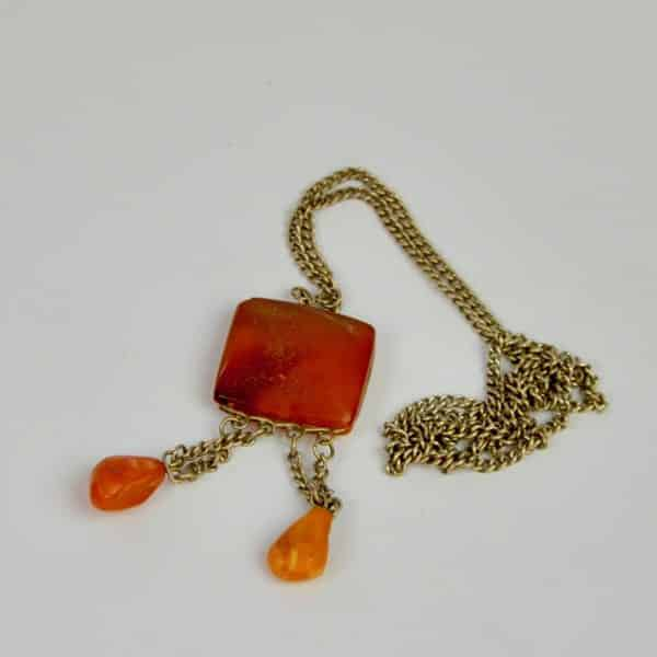 divine style french antiques amber pendant 5