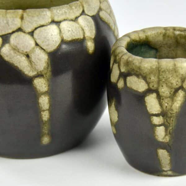 divine style french antiques pointu peau de serpent vases 2