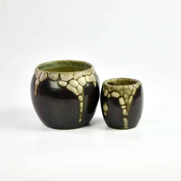 divine style french antiques pointu peau de serpent vases 3