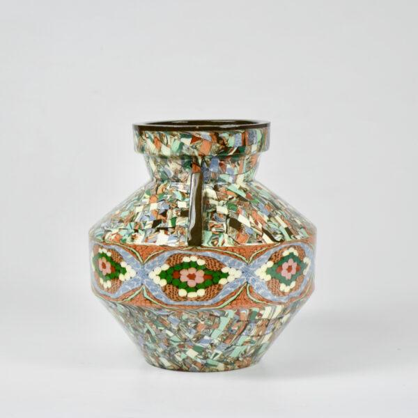Gerbino vallauris vase art deco mosaic 1940s french art pottery 1 (1)