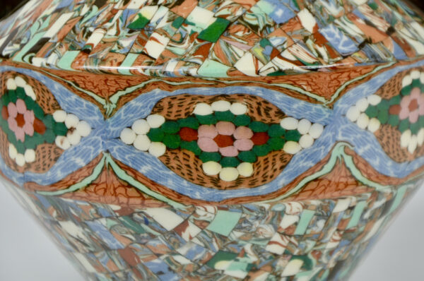 Gerbino vallauris vase art deco mosaic 1940s french art pottery 2