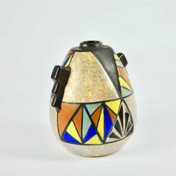 divine style french antiques art deco modernist vase art deco cubist dubois belgium 2