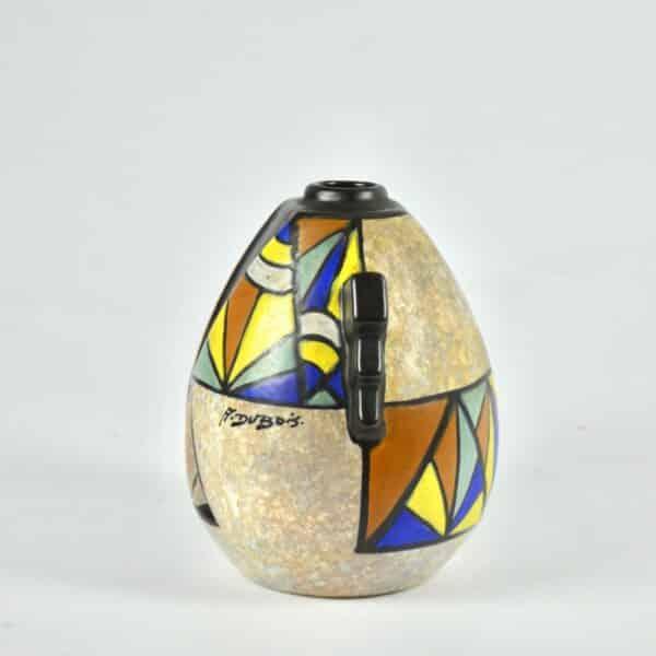 divine style french antiques art deco modernist vase art deco cubist dubois belgium 3