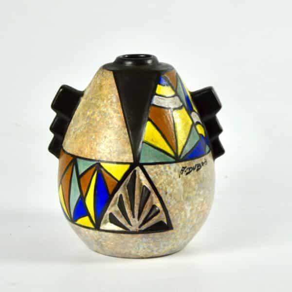 divine style french antiques art deco modernist vase art deco cubist dubois belgium