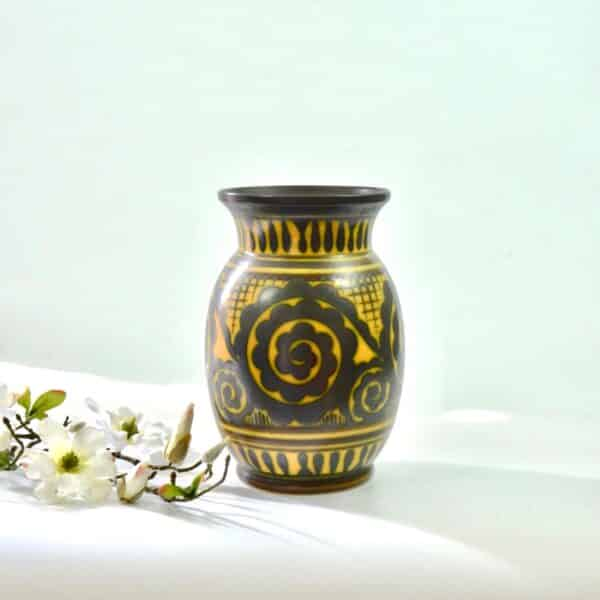 divine style french antiques charles catteau keramis vase ochre 4 (1)