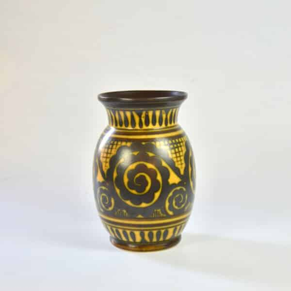 divine style french antiques charles catteau keramis vase ochre