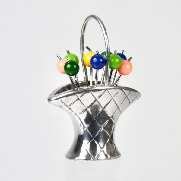 art-deco-cocktail-stick-set-bakelite-chrome-fruit-basket-vintage-barware-1930