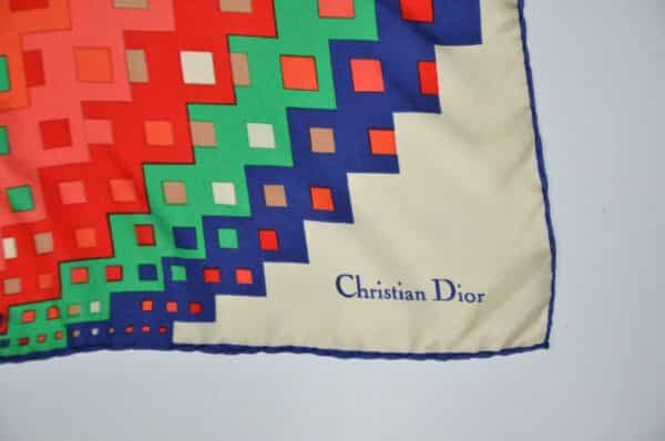 Christian dior silk scarf D divine style french antiques 2