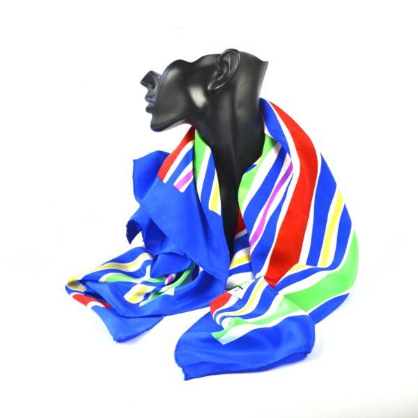 Yves saint laurent YSL silk scarf vintage french designer scarf multicoloured stripes