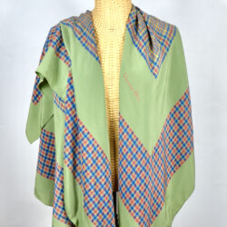 Christian Dior silk shawl large green french designer silk scarf couture 1