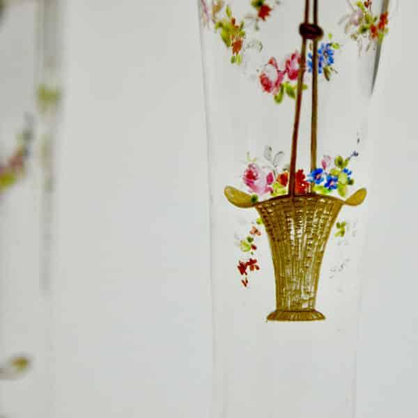 divine style french antiques pair josephine enamel secessionist vases 5