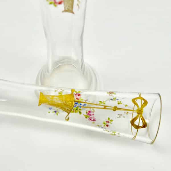 divine style french antiques pair josephine enamel secessionist vases 1