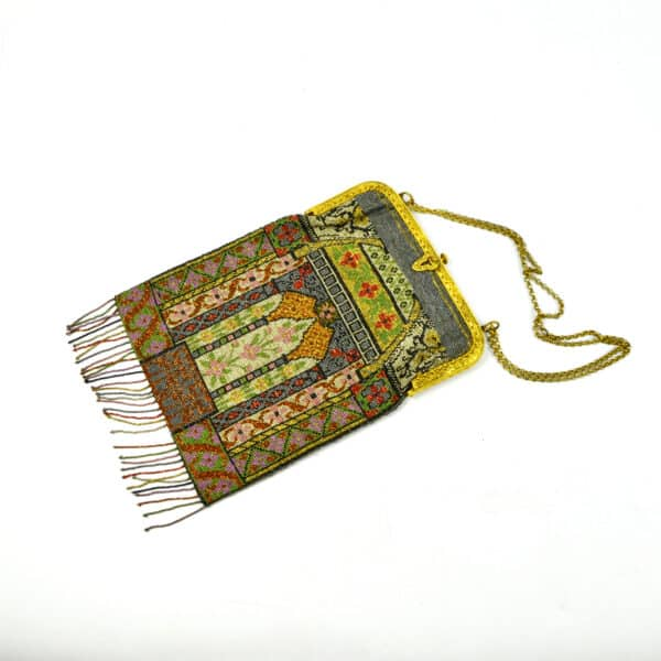 divine style french antiques 19th century beaded bag architectural 1