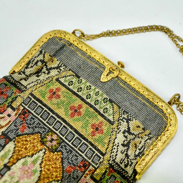 divine style french antiques 19th century beaded bag architectural 2