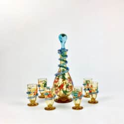 divine style french antiques fritz hacker enamel decanter