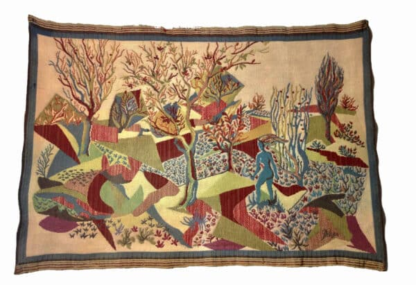 divine style french antiques midcentury modern tapestry wall hanging
