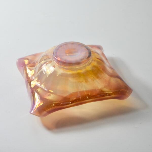 art nouveau monot et stumpf pantin antique French pink opalescent glass bowl c1900 4