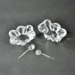 Daum crystal table salts pair of 1950s