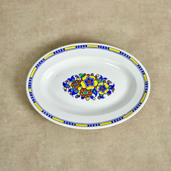divine style french antiques charles catteau boch keramis plate. 4